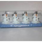 Набор свечей Снеговики